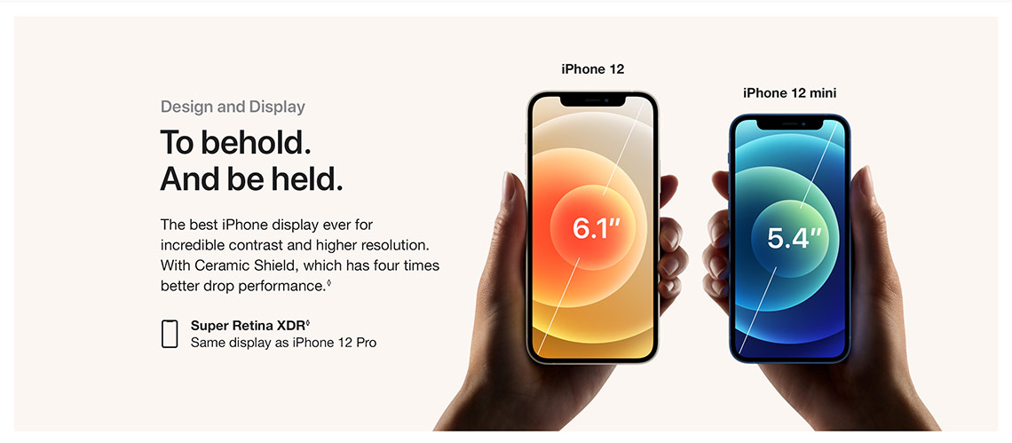 apple iphone 12 design display