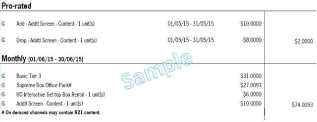 TV Billing Additional Charges | StarHub Support