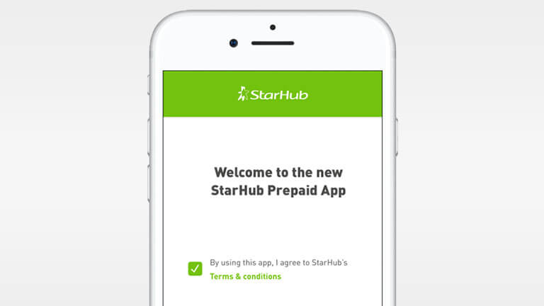 Manage your prepaid account | StarHub Mobile