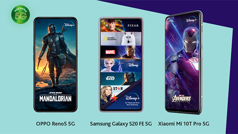 Handsets deals and 12 months of Disney+ on us